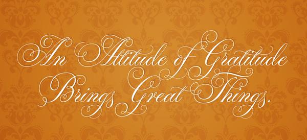 Gratitude lessons